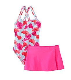 OshKosh B'Gosh® Girls' 2T-6X 1-Piece Watermelon Print Swim Set