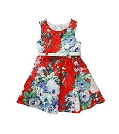 Sweet Heart Rose® Girls' 4-6X Floral Skater Dress