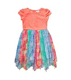 Sweet Heart Rose® Girls' 4-6X Textured Top Chiffon Dress