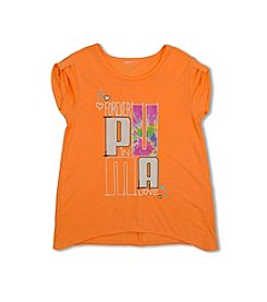 PUMA® Girls' 2T-6X Short Sleeve Tee