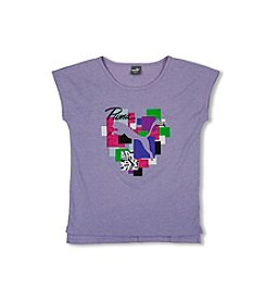 PUMA® Girls' 2T-6X Short Sleeve Puma Heart Tee