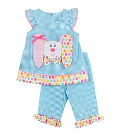 Rare Editions® Girls' 2T-6X Spring Bunny Tunic And Pants Set