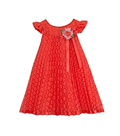 Rare Editions® Girls' 2T-6X Pleated Lace Dress