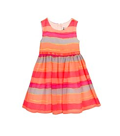 Rare Editions® Girls' 2T-6X Sleeveless Striped Dress and Cardigan