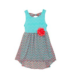 Rare Editions® Girls' 2T-6X Chevron Pattern Dress