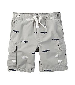 Carter's® Boys' 2T-7 Alligator Print Cargo Shorts