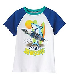 mix&MATCH Boys' 5-7 Totally Jawsome Surfer Shark Tee
