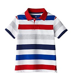 Mix & Match Boys' 2T-7 Short Sleeve Striped Polo