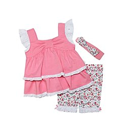 Wendy Bellissimo® Baby Girls' 3-Piece Floral Capri Set