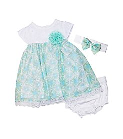 Wendy Bellissimo® Baby Girls' 3-Piece Geo Print Dress Set