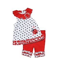 Baby Essentials® Baby Girls' Ladybug Top And Capri Set