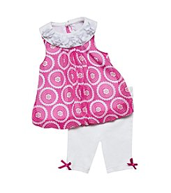 Baby Essentials® Baby Girls' 2-Piece Geo Print Capri Set