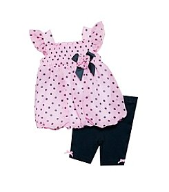 Baby Essentials® Baby Girls' Dot Top And Pants Set