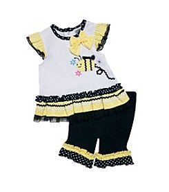 Baby Essentials® Baby Girls' Bee Top And Capri Set