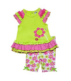Baby Essentials® Baby Girls' Flower Top And Capri Set