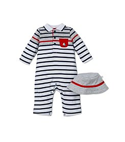 Little Me® Baby Boys Striped Sailor Coverall