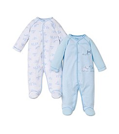 Little Me® Baby Boys 2-Pack Puppy Footie