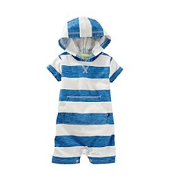 OshKosh B'Gosh® Baby Boys' Hooded Stripe Romper