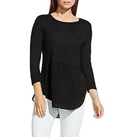 Vince Camuto® Mixed-Media Top