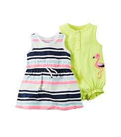 Carter's® Baby Girls' Striped Dress And Dot Romper