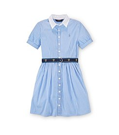 Ralph Lauren Childrenswear Girls' 7-16 Belted Striped Dress