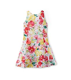 Ralph Lauren Childrenswear Girls' 7-16 Floral Patterned Dress