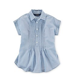 Ralph Lauren Childrenswear Girls' 7-16 Pleated Shirt