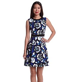 Nine West® Floral Scuba Fit And Flare Dress