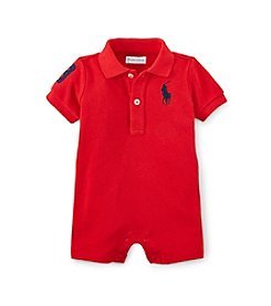 Ralph Lauren Childrenswear Baby Boys' 3-24M Polo One-Piece Shortalls