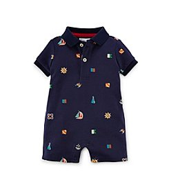 Ralph Lauren Childrenswear Baby Boys' Boat Polo One-Piece Shortalls