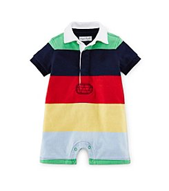 Ralph Lauren Childrenswear Baby Boys Striped Polo One-Piece Shortalls
