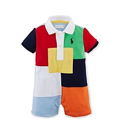 Ralph Lauren Childrenswear Baby Boys Patchwork Polo One-Piece Shortalls