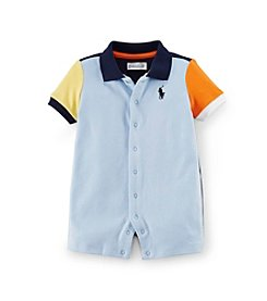 Ralph Lauren Childrenswear Baby Boys' Colorblock Polo One-Piece Shortalls