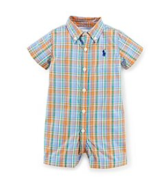 Ralph Lauren Childrenswear Baby Boys' Plaid One-Piece Shortalls