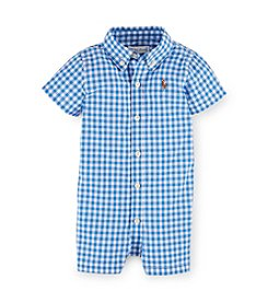 Ralph Lauren Childrenswear Baby Boys' 3-24M Plaid One-Piece Shortalls