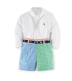 Ralph Lauren Childrenswear Baby Boys' 3-24M Oxford Shortset