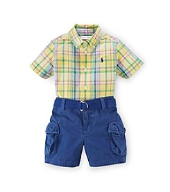 Ralph Lauren Childrenswear Baby Boys 3-24M Cargo Shortset