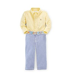 Ralph Lauren Childrenswear Baby Boys' 3-24M Seersucker Pantset