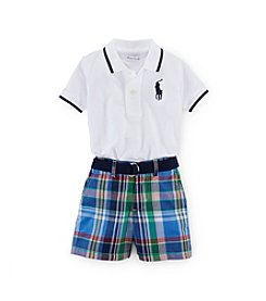 Ralph Lauren Childrenswear Baby Boys 3-24M Plaid Shortset