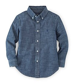 Ralph Lauren Childrenswear Boys' 2T-7 Long Sleeve Chambray Button Down Shirt