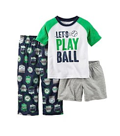 Carter's® Boys' 3-Piece Play Ball Pajama Set