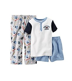 Carter's® Boys' 12M-12 Three-Piece Home Run Champ Pajama Set
