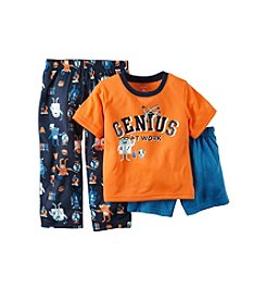 Carter's® Boys' 12M-12 Three-Piece Genius At Work Pajama Set