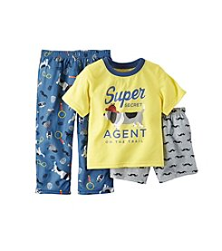 Carter's® Baby Boys 12M-12 Three-Piece Secret Agent Pajama Set