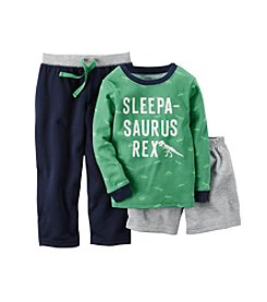 Carter's® Boys' 12M-12 Three-Piece Sleepasaurus Rex Pajama Set