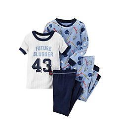 Carter's® Boys' 12M-12 Four-Piece Future Slugger Pajama Set