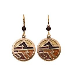 Silver Forest® Goldtone Desert Abstract Earrings