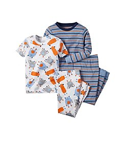 Carter's® Boys' 8-12 4-Piece Monster Pajama Set