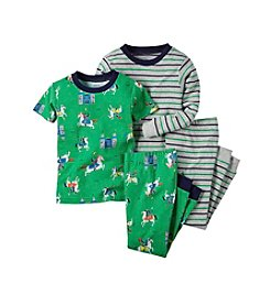 Carter's® Boys' 8-12 4-Piece Knights Pajama Set