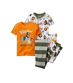 Carter's® Boys' 8-12 4-Piece King Of The Jungle Pajama Set